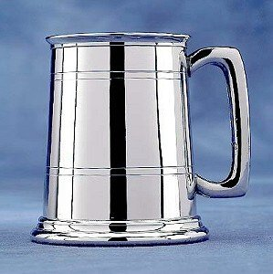 Straight-Sided Pint Pewter Tankard