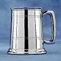 Striaght-Sided Pewter Tankard