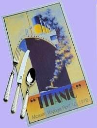 Panel Reed Titanic Cutlery - Ancillary Pieces