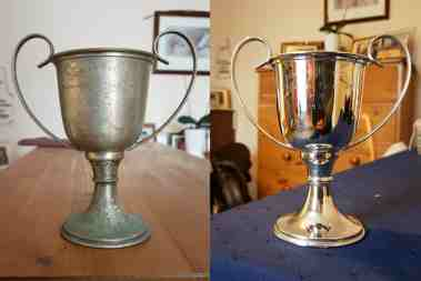 Trophy before & After
